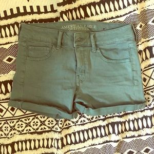 American eagle teal green shorts